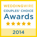 2014 winners of WeddingWire's Couple's Choice award!