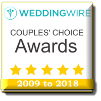 Wedding Wire Couples' Choice Award 2009 to 2018