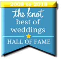 The Knot Best of Weddings AND Hall of Fame Awarded to Ariel Music and Events from 2008 to 2018